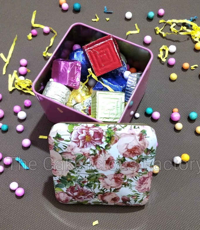 Floral Print Box of 15 Assorted Chocolates