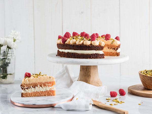 Rose Saffron Cake