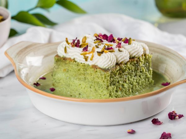 Pistachio Rose Sukkar Milk Cake