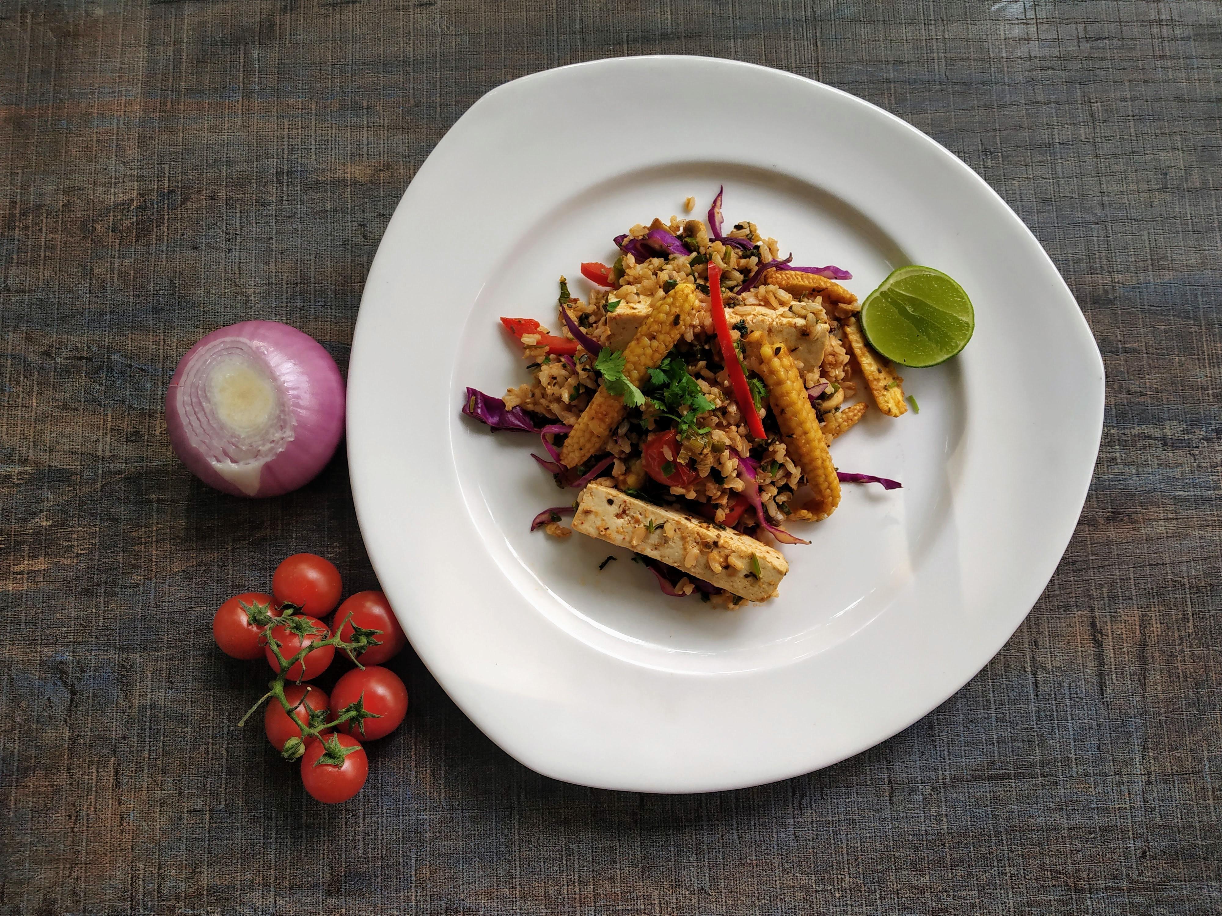 Tofu Fajita Rice