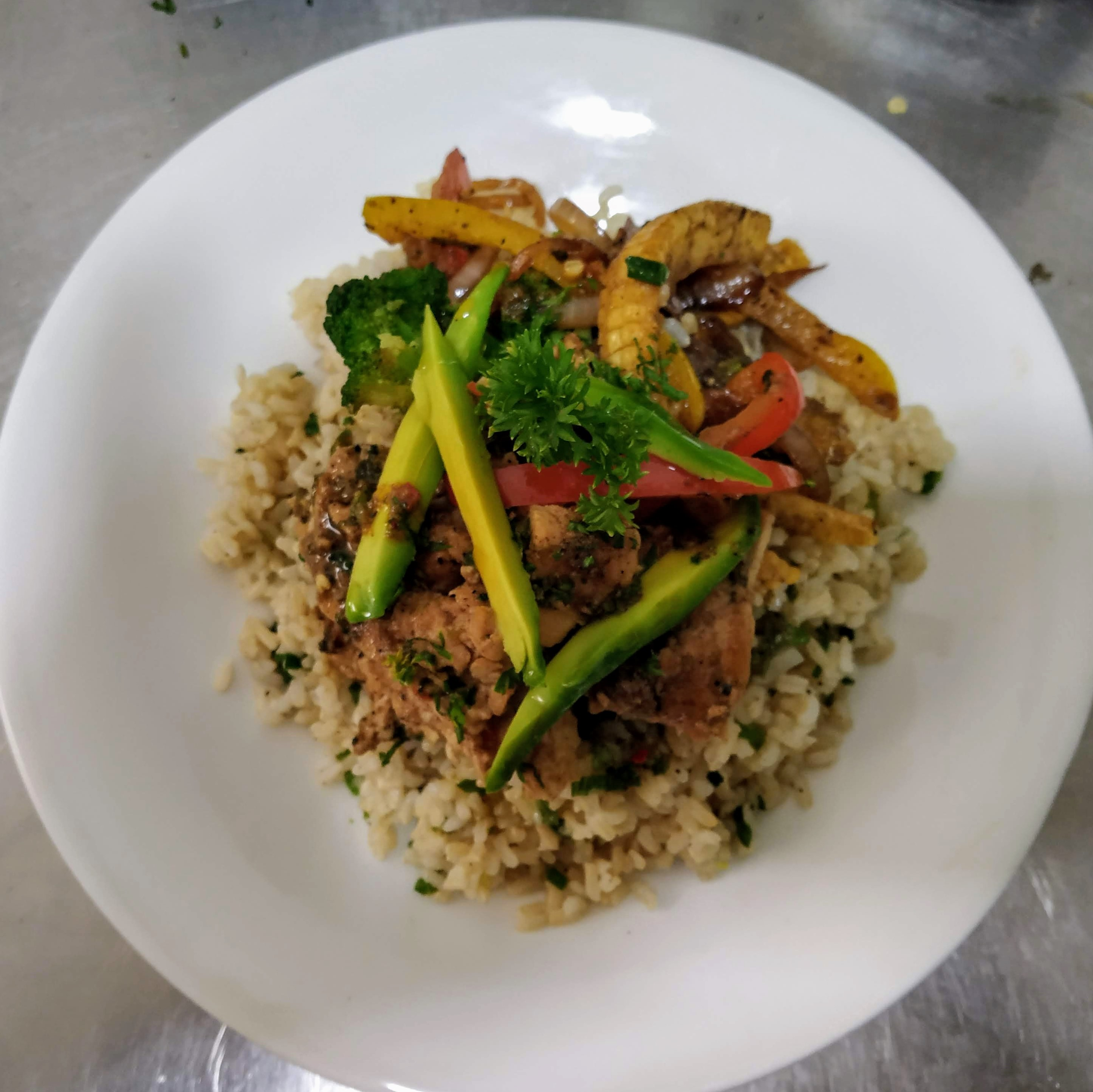 Chilli Lime Chicken  with Mushroom rice