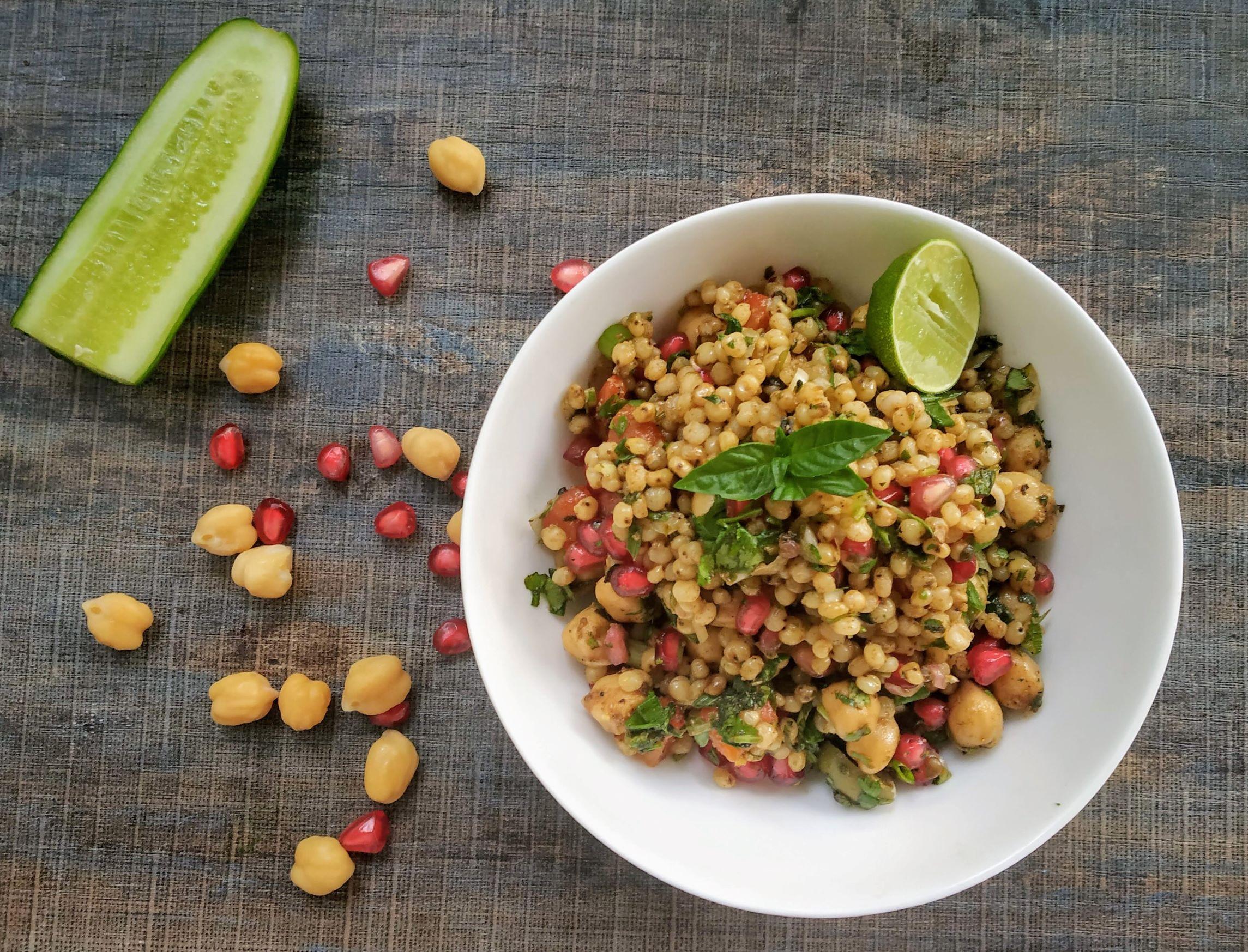 Sorghum Chikpea Salad