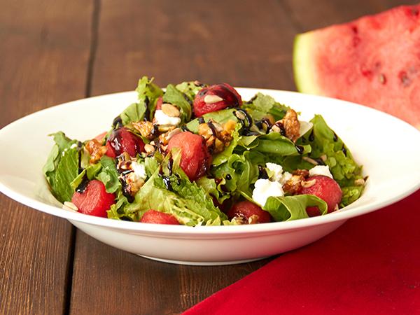Watermelon Mint & feta salad