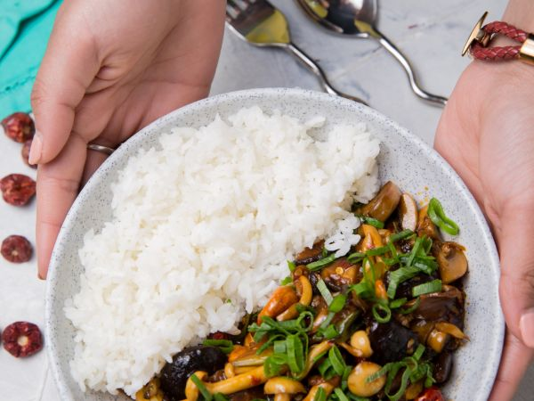 Kung Pao Mushrooms [Vegan]