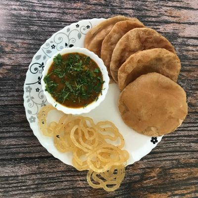 Poori Sabji + Jalebi [For Two]