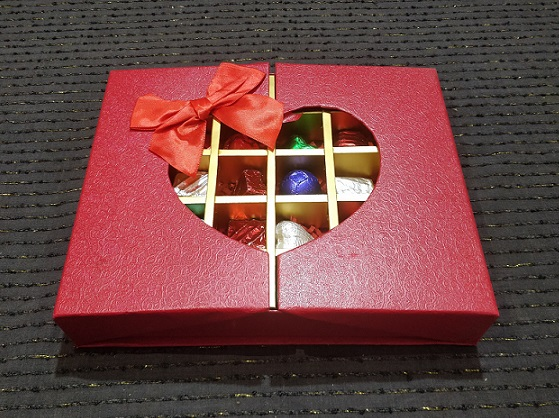 Gift Box of 30 Assorted Chocolates (Red)