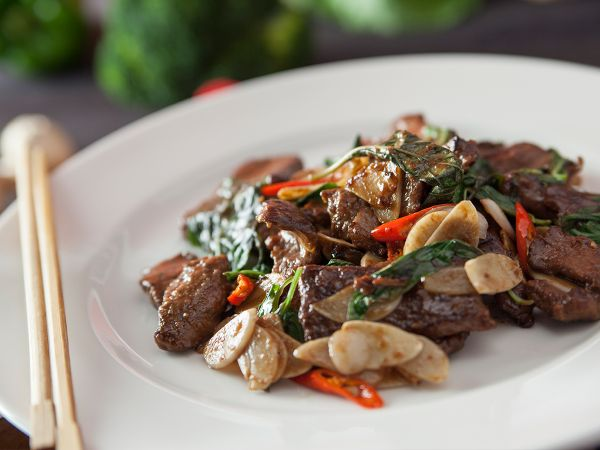 Stir Fried Tenderloin with Basil