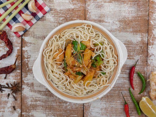 Vegetable Mongolian Pot Noodle
