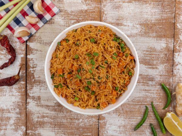 Vegetable Schezwan Rice