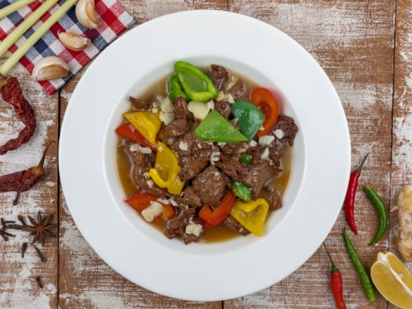 Tenderloin with Bell Peppers