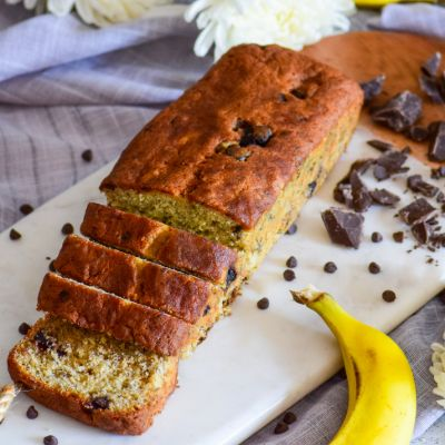 Banana Chocolate Loaf Cake