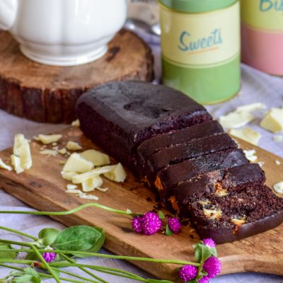 Eggless Chocolate Loaf Cake