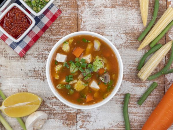 Chicken Monk Special Soup
