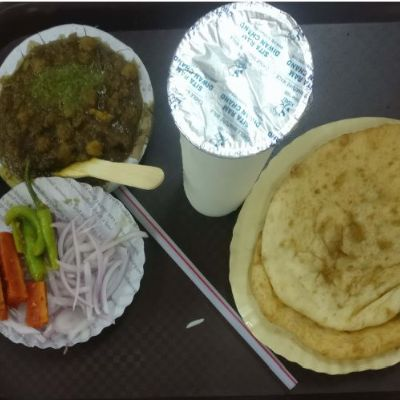Chole Bhature with Lassi
