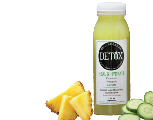HEAL & HYDRATE - (CUCUMBER, PINEAPPLE, ALOE-VERA)