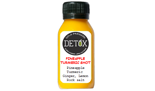 PINEAPPLE TURMERIC SHOT - (PINEAPPLE, GINGER, LEMON, TURMERIC, ROCK SALT)