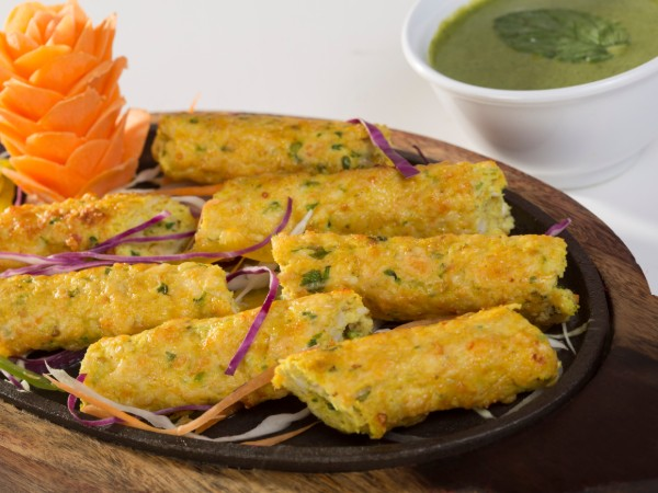 Chicken and Cheese Seekh Kabab