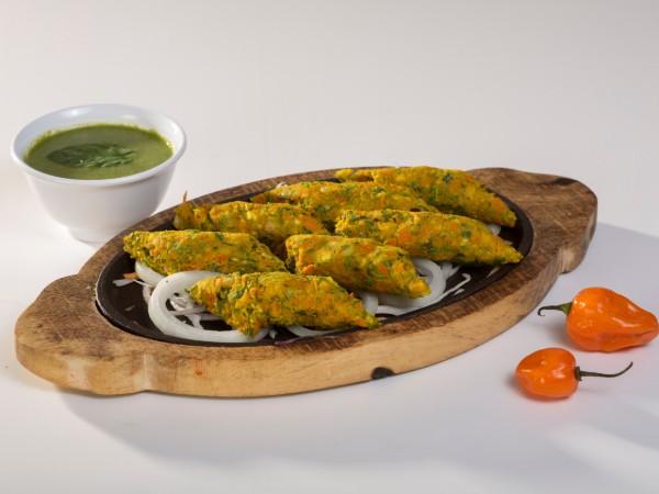 Veg Malai Seekh Kabab