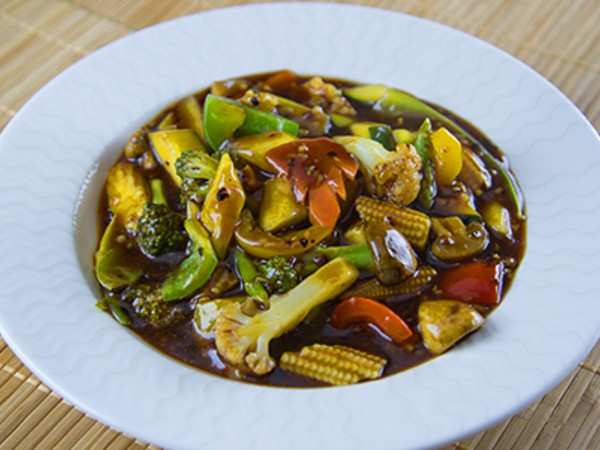 Exotic Vegetable in Black Pepper Sauce