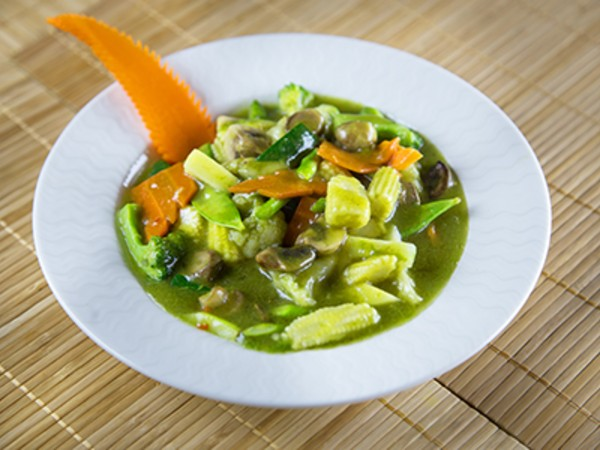 Lemongrass Vegetable in a Fresh Cilantro Sauce