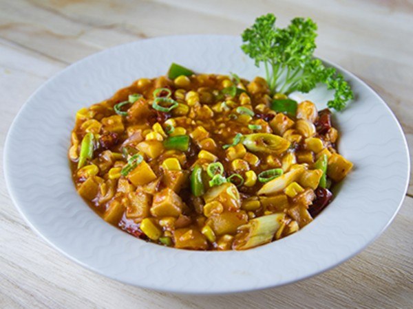 Golden Corn Water Chestnut and Potato Tsing Hoi Style