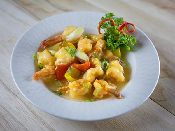 Prawns in a White Garlic Sauce