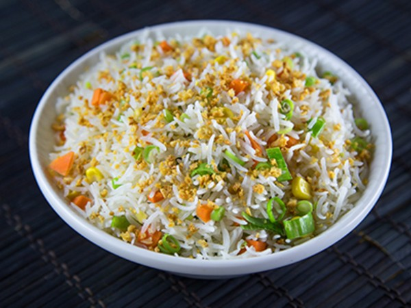 Vegetable Fried Rice Burnt Garlic