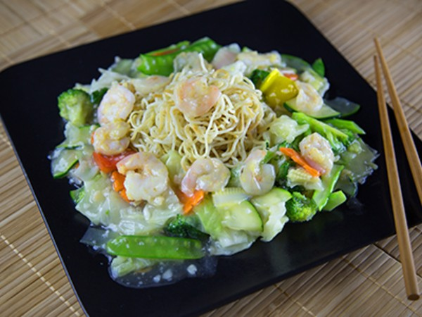 Pan Fried Noodles with a Cantonese Style