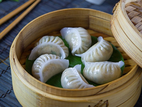 Basil Flavoured Chicken Dumplings