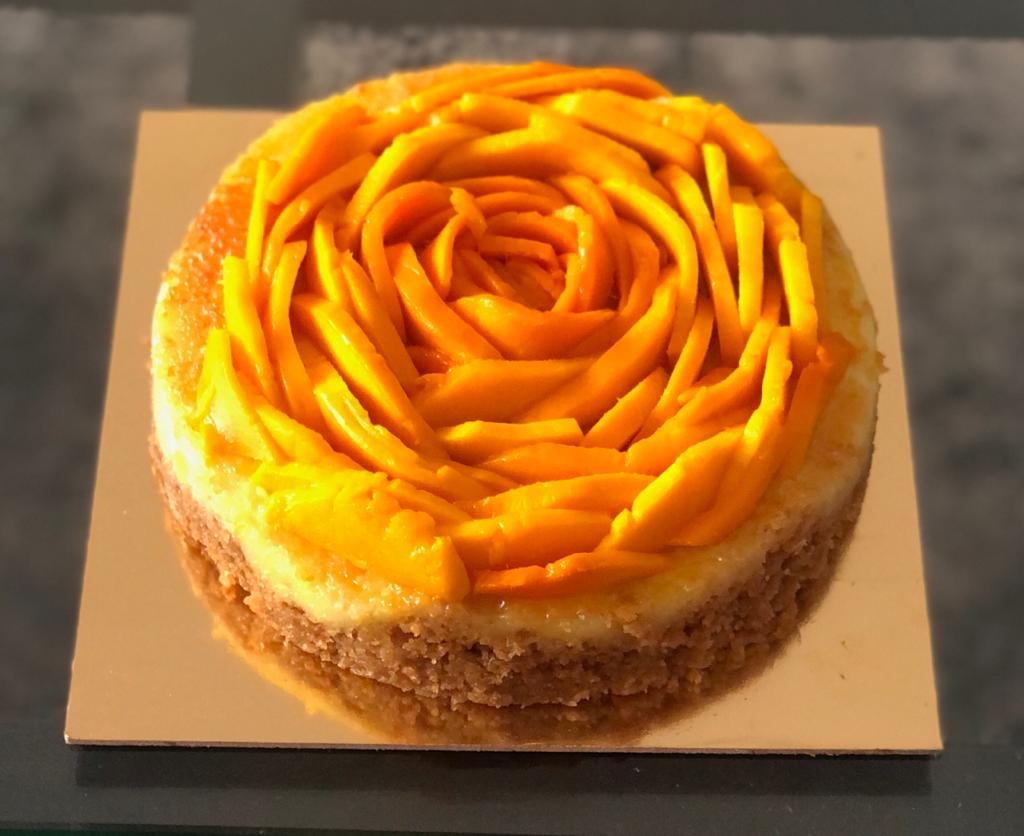 Baked Philadelphia with fresh seasonal fruit Cake
