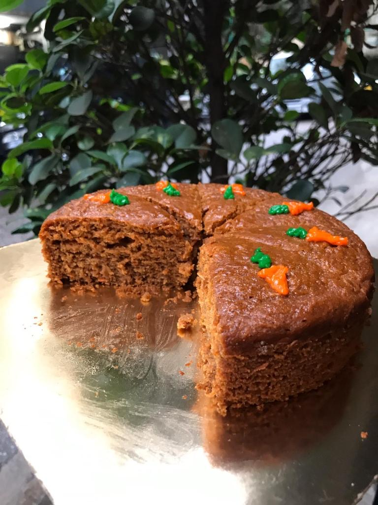 Whole Wheat Honey Carrot Tea Cake