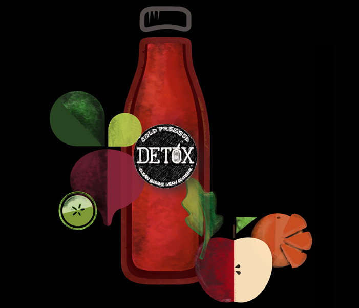 DETOX CLEANSE - (Apple, Beetroot, Carrot, Pomegranate, Pineapple, Orange, Cucumber, Spinach, Amla, Aloe Vera, Wheat-grass, Ginger, Lemon)