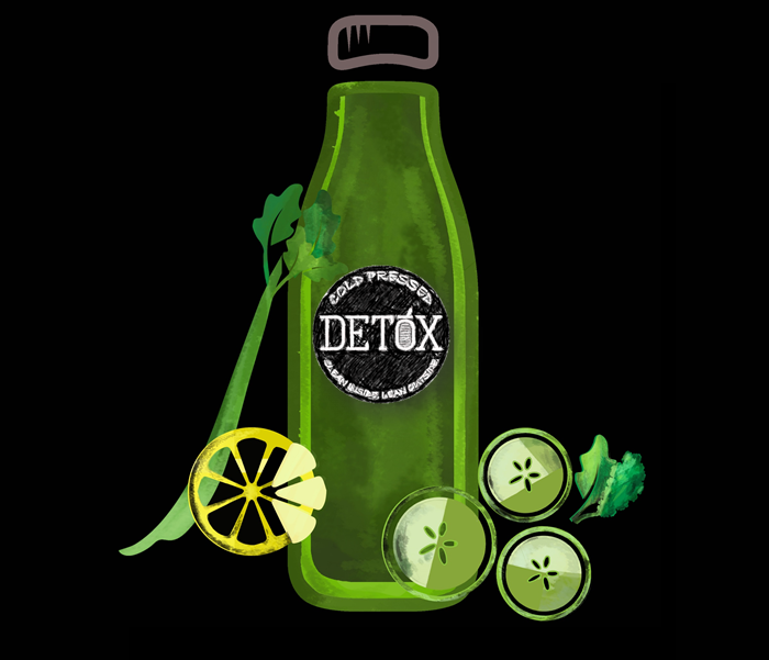 DEEP GREEN - (KALE, CELERY, PARSLEY, SPINACH, CUCUMBER, LEMON)