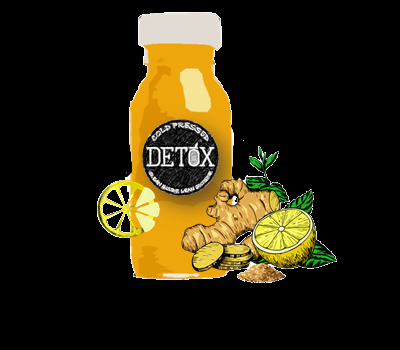 FLU SHOT- (TURMERIC + LEMON + GINGER + HONEY + CAYENNE PEPPER )