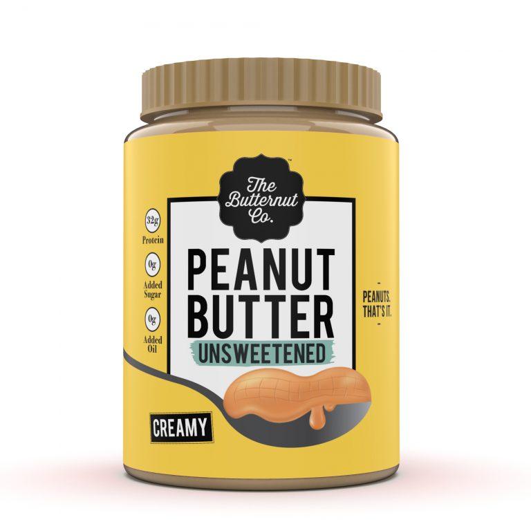 The Butternut Co- Unsweetened Peanut butter Creamy 340g