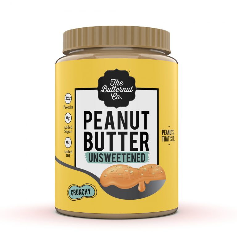 The Butternut Co- Unsweetened Peanut butter Crunchy-340g