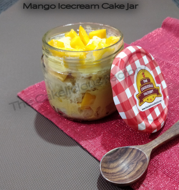 Mango Ice Cream Cake Jar