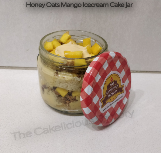 Honey Oats Mango Ice Cream Cake Jar