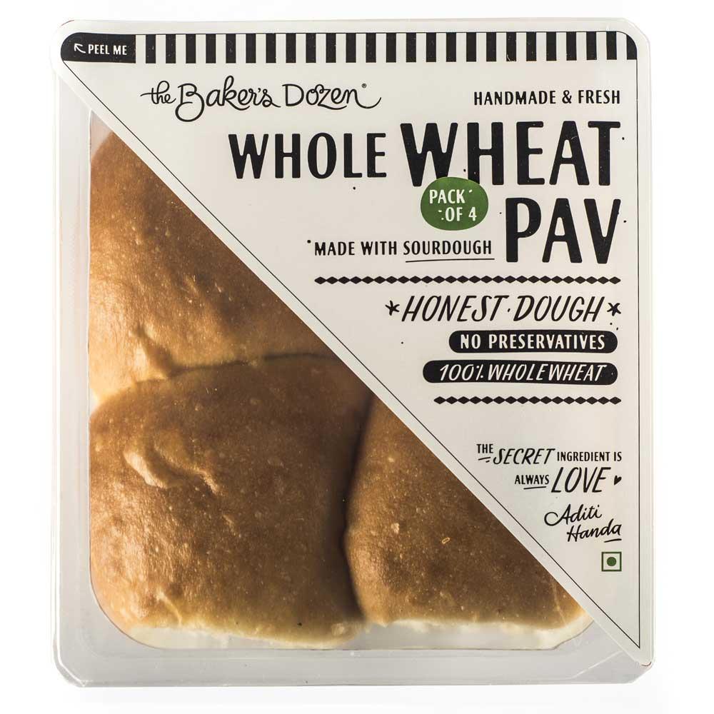Wholewheat Pav (Sourdough) 100% Wholewheat