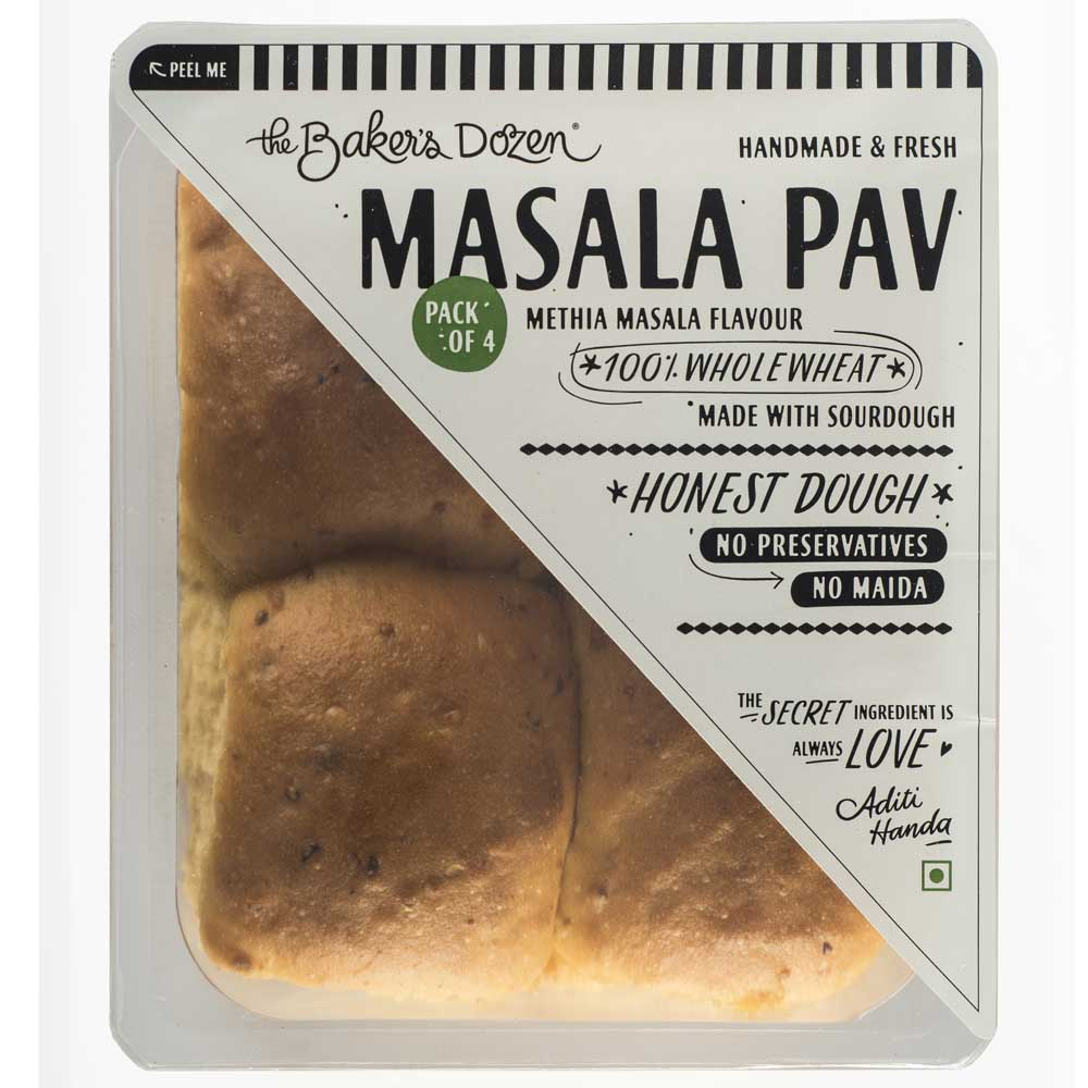 Masala Pav (Methia) (Sourdough) 100% Wholewheat