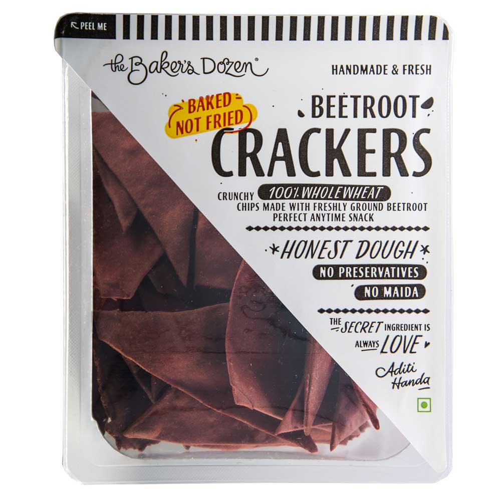 Beetroot Crackers 100% Wholewheat