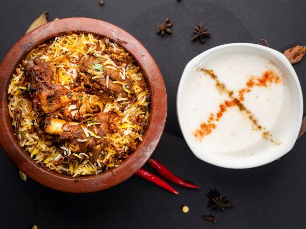 Hyderabadi Dum Biryani (Chicken/Mutton)