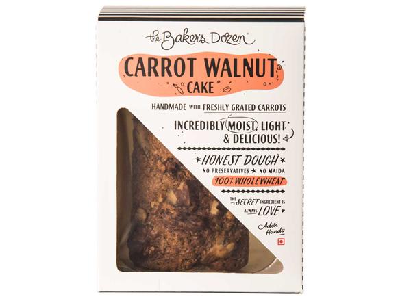 Carrot Walnut Cake - 135 g 100% Wholewheat Small
