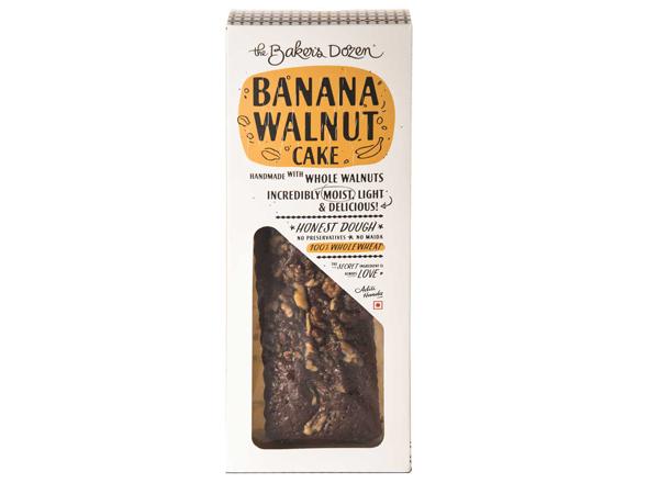 Banana Walnut Cake - 300 g 100% Wholewheat