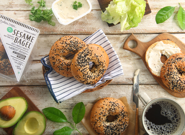 Bagel Sesame (Pack Of 2) 100% Wholewheat