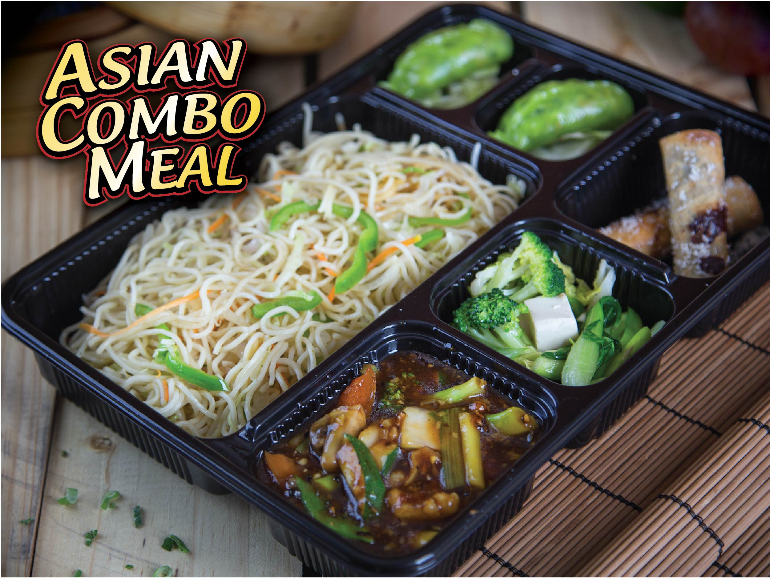 Asian Combo Meal - Vegetarian