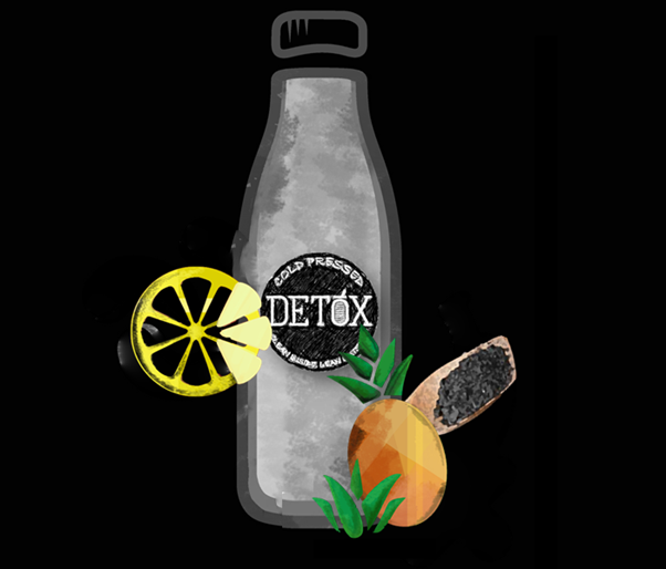 CHARCOAL LEMONADE - (Pineapple + Activated Coconut Charcoal + Ginger + Lemon)