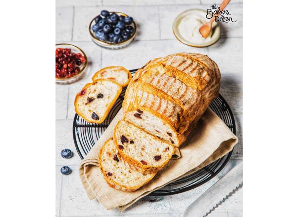 Blueberry Cranberry (Sourdough) Bread 100% Wholewheat