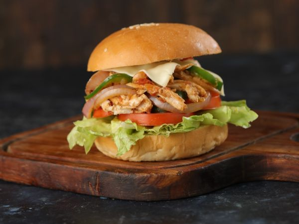 Pulled Chicken Burger Meal