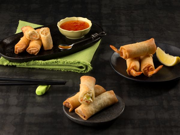 Vegetable Spring Roll  (4 Pieces)
